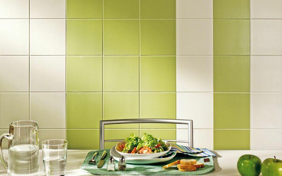 Плитка для кухни мятного цвета